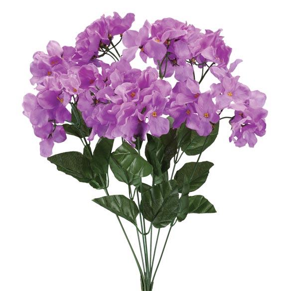 Artificial Light Purple Hydrangeas - View 2