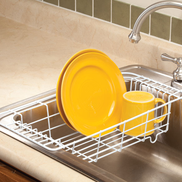 Sink dish drainer in sink dish rack walter drake - Dish racks for small spaces set ...