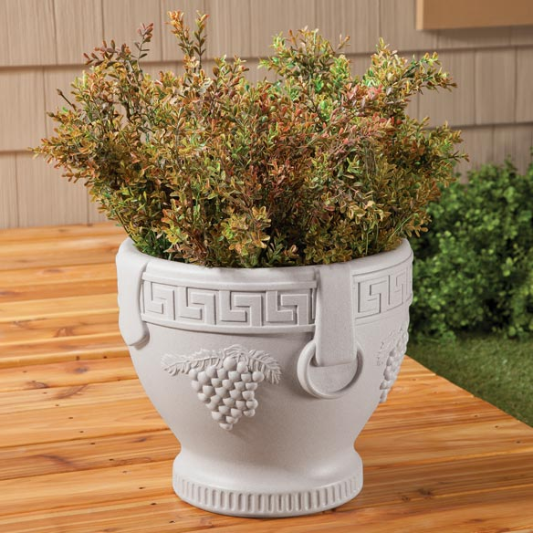 Grape Pattern Urn Planter - View 2