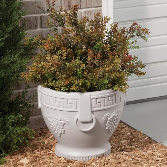 Grape Pattern Urn Planter - View 3