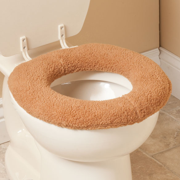 Sherpa Toilet Seat Cover by OakRidge Comforts™ - View 3