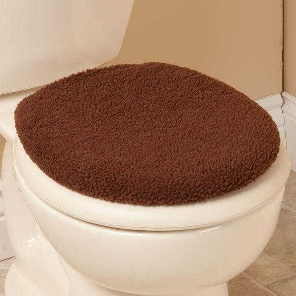 Sherpa Toilet Seat Lid Cover - View 3