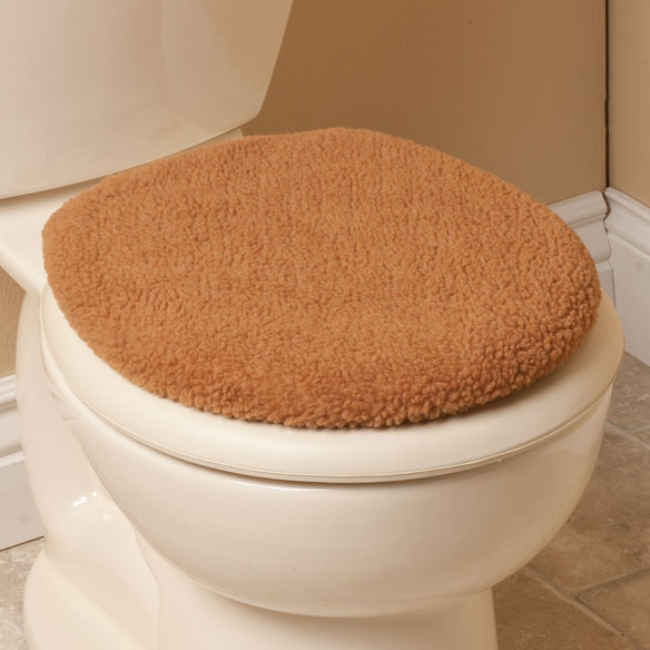 Sherpa Toilet Seat Lid Cover - View 4