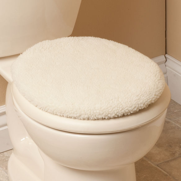 Sherpa Toilet Seat Lid Cover - View 5