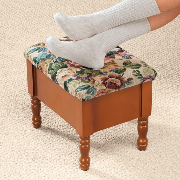 Tapestry Storage Ottoman - View 2