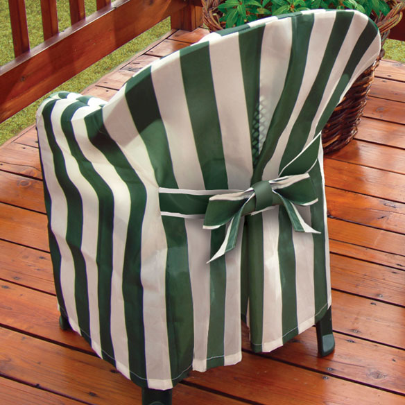 Striped Patio Chair Cover with Cushion - View 1