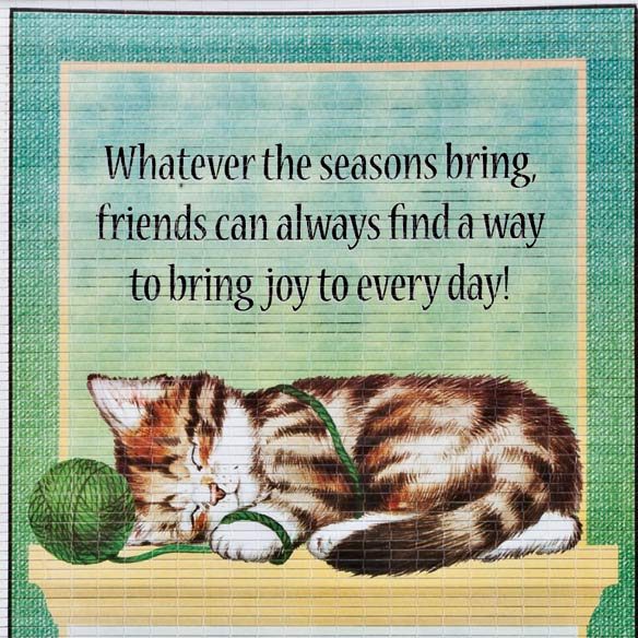 Playful Kittens Scroll Calendar - View 3