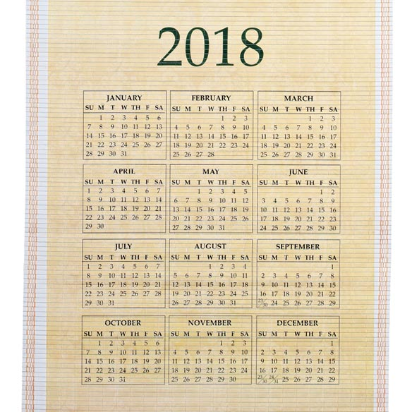 Rejoice Scroll Calendar - View 5