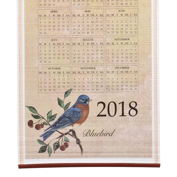Songbirds Scroll Calendar - View 3