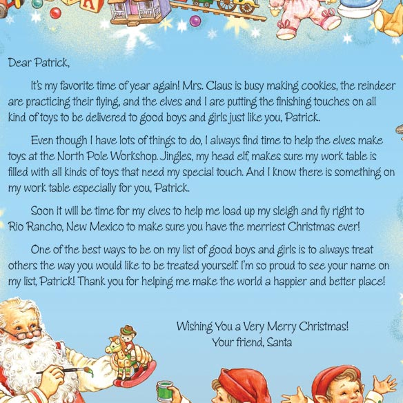 Personalized Christmas Letter from Santa 2014 - View 1