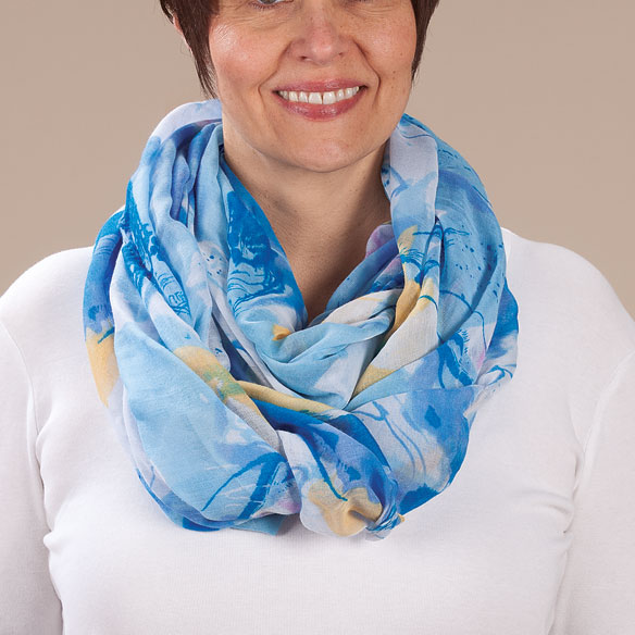 Watercolor Infinity Scarf - View 2