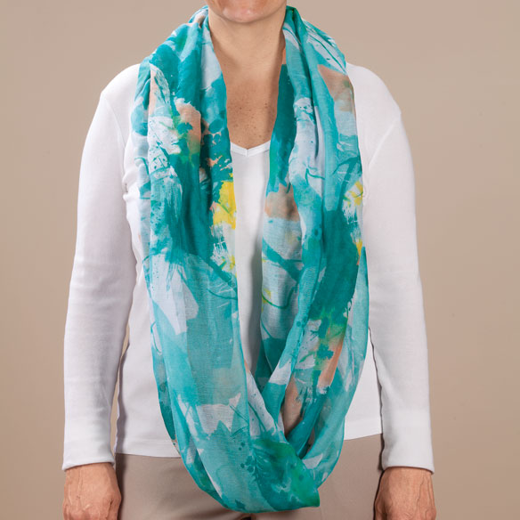 Watercolor Infinity Scarf - View 4