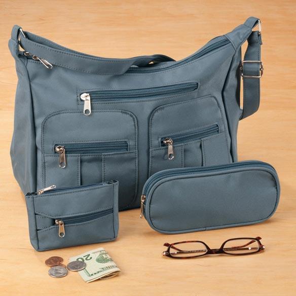 Microfiber 3-Piece Handbag Set - View 2