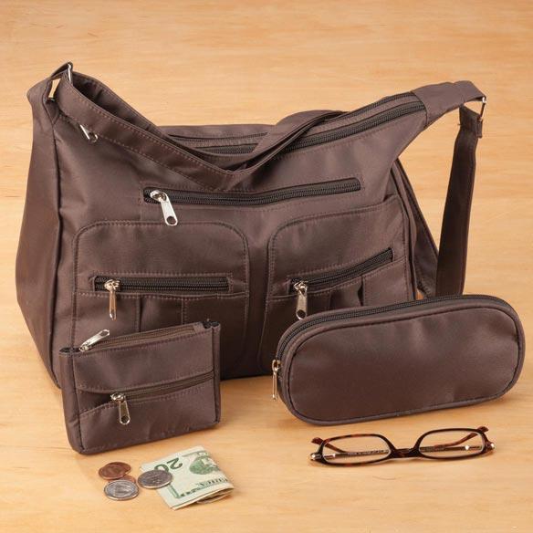 Microfiber 3-Piece Handbag Set - View 3