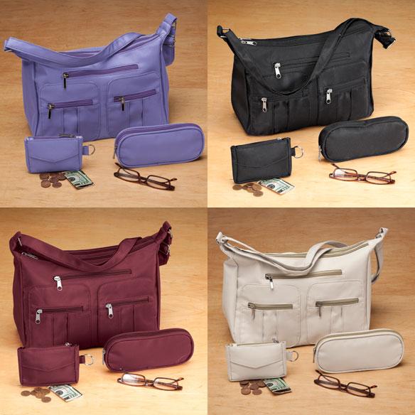 Microfiber 3-Piece Handbag Set - View 4