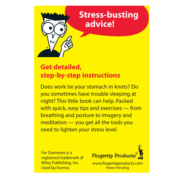 Stress Management Refrigerator Magnet Book For Dummies® - View 1