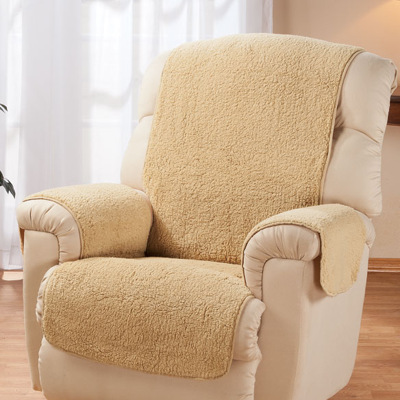 Lawn Chair Covers Sherpa Recliner Protector by OakRidge Comforts - Chair ...