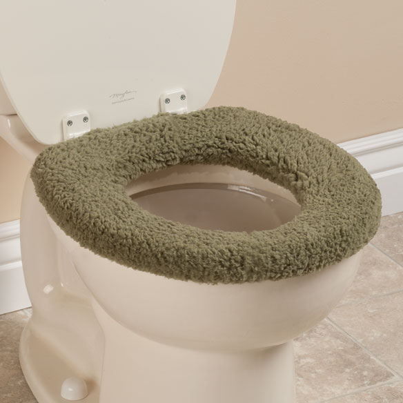 Sherpa Toilet Seat Cover by OakRidge Comforts™ - View 4