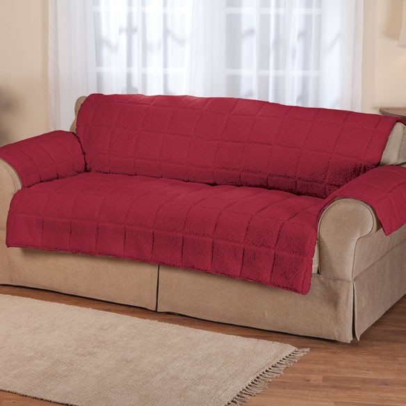 Waterproof Sherpa Sofa Protector by OakRidge Comforts  : w3516962lg from wdrake.com size 584 x 584 jpeg 50kB