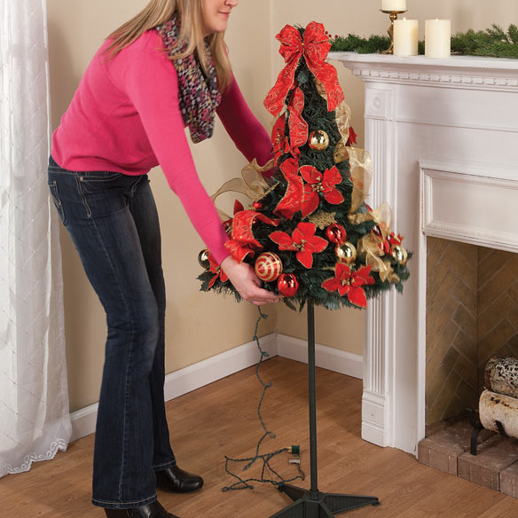 Pull Up Decorated Christmas Tree: 4-Ft. Pull-Up Fully Decorated Tree