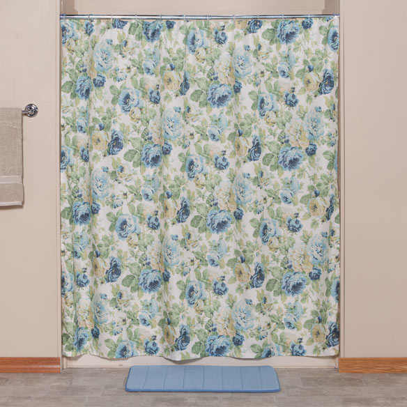 English floral shower curtain view 2 for English floral curtains