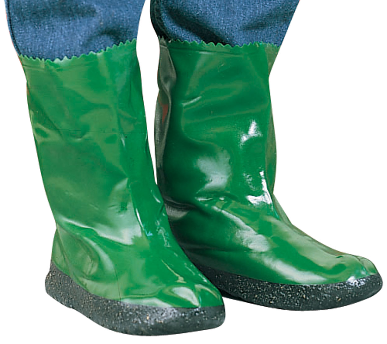 Garden Boots Tired of slippery, muddy garden boots? Slip on a pair of these garden boots with non-skid soles instead, and your feet will stay dry as you walk or work in the garden. Simply rinse rubber garden boots to clean. Washable, vinyl-treated cotton repels dirt and moisture. Small fits ladies (6-8), men's (4-6). Medium fits ladies' (9-10), men's (6-8). Large fits ladies' (10-12), men's (8-10). (Please note: these boots are not intended to be worn over shoes)