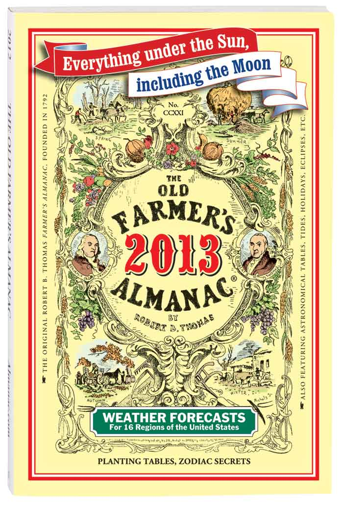 Old Farmer's Almanac Published every year since 1792, this handy, fact-filled Old Farmer's Almanac is a cornucopia of Americana. Inside the farmers almanac for 2016 is everything from regional weather forecasts, planting tables, and recipes to remedies, pleasantries, and anecdotes. Hours of fascinating, informative reading. Softcover. 5 3/8 wide x 8 high.