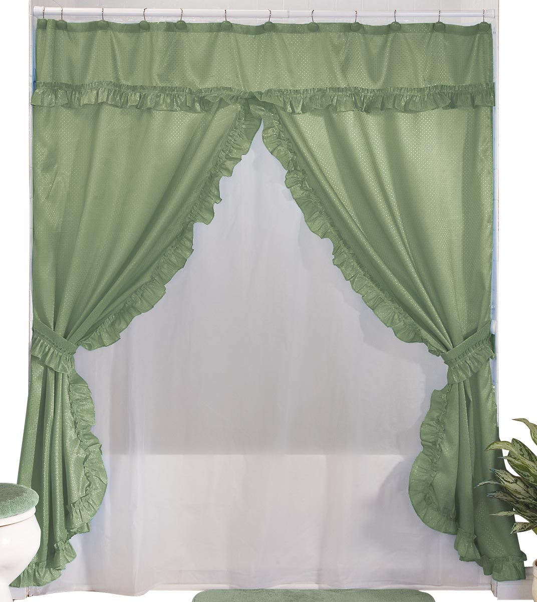Walterdrake Double Swag Shower Curtains With Valance Ebay