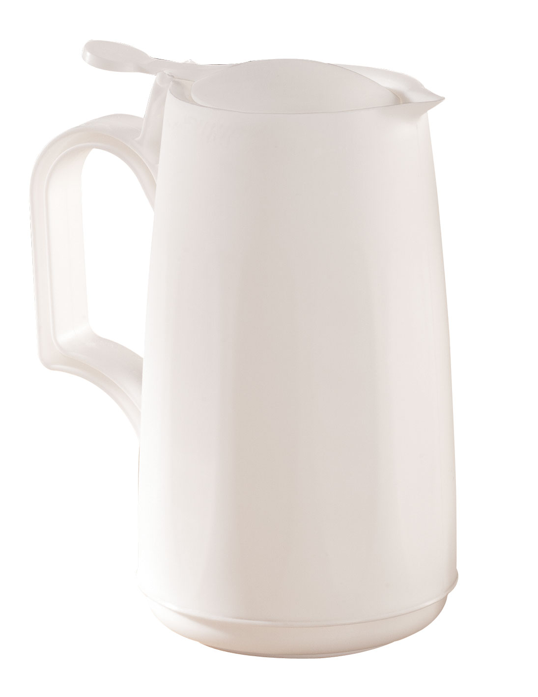 Microwave Syrup Dispenser Convenient microwave syrup dispenser heats and serves in one. 6  H plastic syrup pitcher with easy-pour spout and thumb-control lid is dishwasher safe and holds 12 oz. Great for gravy, too.
