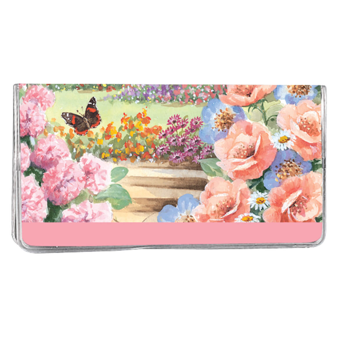 Butterfly Garden 2 Year Pocket Planner Keep track of dates and holidays with this butterfly 2 year pocket planner! Notepad included. Folds to 6 3/4  x 3 5/8 . Makes a great gift! Specify name, up to 25 letters and spaces.