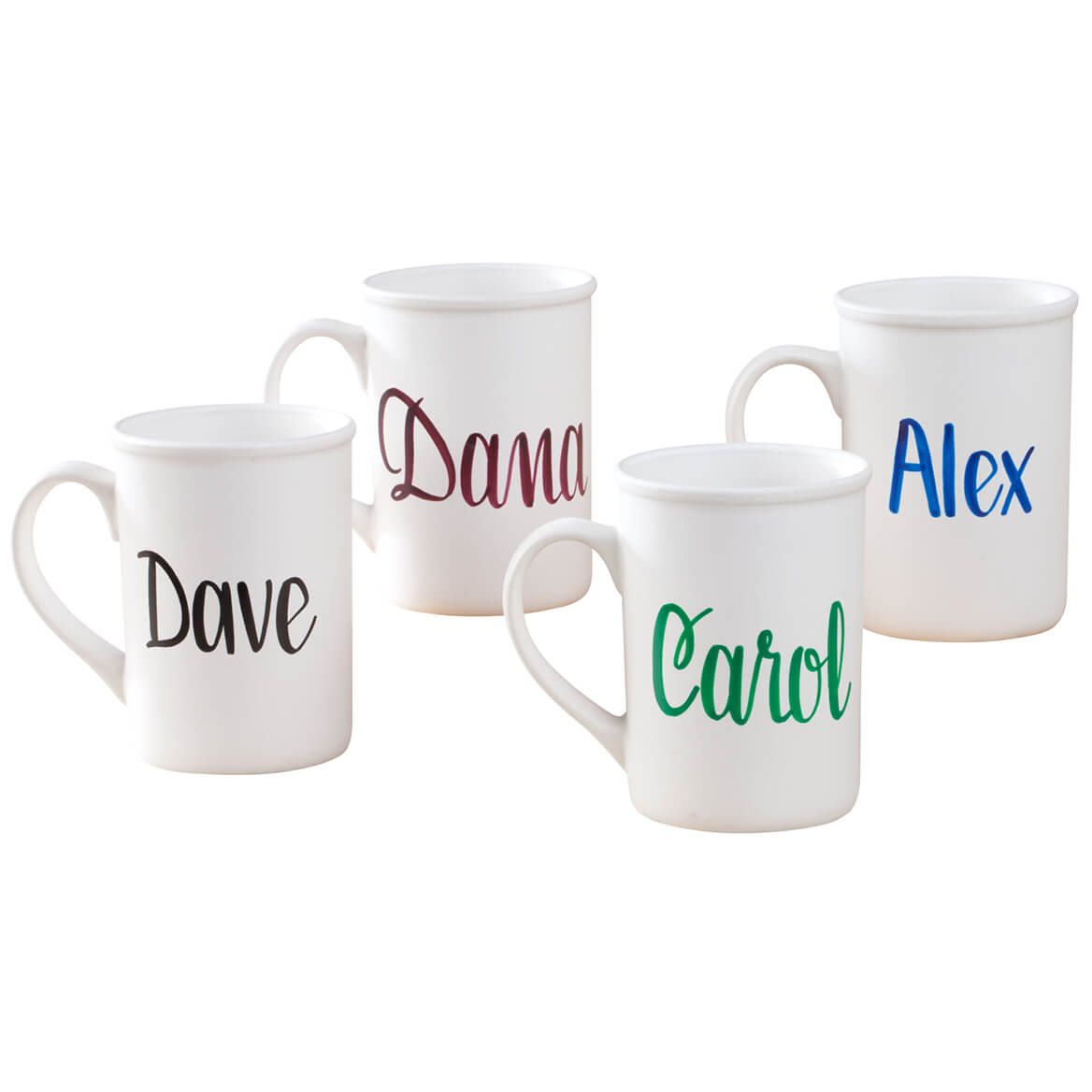 Personalized Coffee Mug Personalized coffee mug serves personalizedonality! Gourmet 14 oz. custom coffee mug serves coffee, tea, hot chocolate. Print name, up to 12 letters/spaces. Specify ink color: burgundy, green, black or blue. Hand wash your personalizedonalized coffee cup.