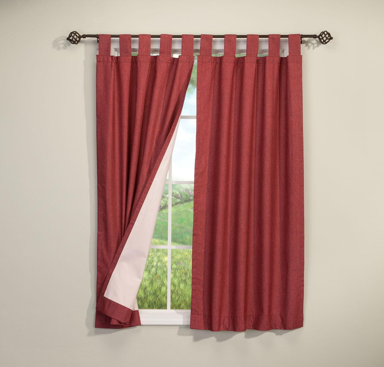 Walterdrake Energy Saving Tab Top Curtains Set Of 2