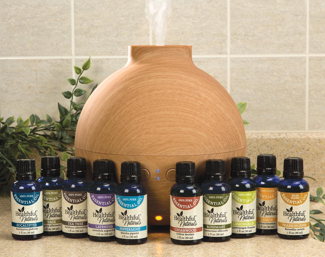 Essential Oil Diffuser Walmart ~ Healthful naturals premium essential oil kit ml