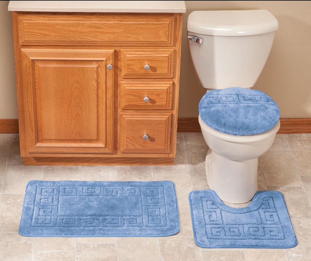 Фото #1: 3-Piece Plush Geometric Bathroom Set by OakRidge Accents