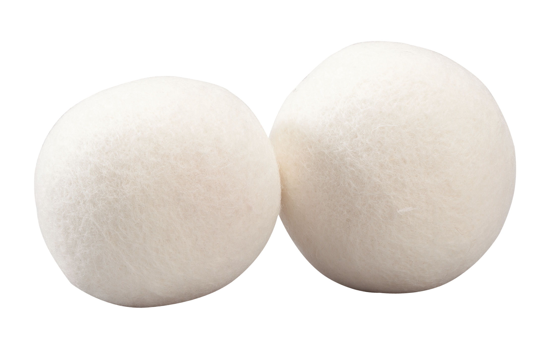 Sheep's Wool Dryer Balls, Set of 2 Sheep's wool dryer balls naturally reduce static and drying time while keeping clothes soft and fresh. Made of 100% pure wool, they tumble along with your clothing and blankets, keeping them from twisting together. Add a few drops of your favorite essential oil to each wool ball and enjoy lightly scented laundry -- no more buying disposable sheets with harsh chemicals. Set of 2 laundry balls, each approx. 3  dia. Imported.