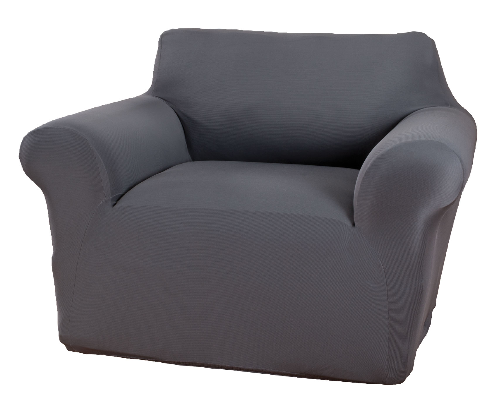Corduroy Chair Stretch Furniture Cover Corduroy chair stretch furniture cover gives chairs an instant lift with the rich look and feel of corduroy. One-piece chair cover adds soft, breathable comfort to your chair while protecting against spills, stains and wear. Stretch design provides a smooth look that resists wrinkles and fits most chairs up to 43  W. Care is easy -- simply toss in the wash when it's time to freshen. Choose from 4 colors to complement any decor: burgundy, chocolate, ivory or gray. Furniture protector made with 97% polyester/3% spandex. Machine wash cold, gentle; tumble dry low. Use only non-chlorine bleach if needed. Do not iron. Imported.