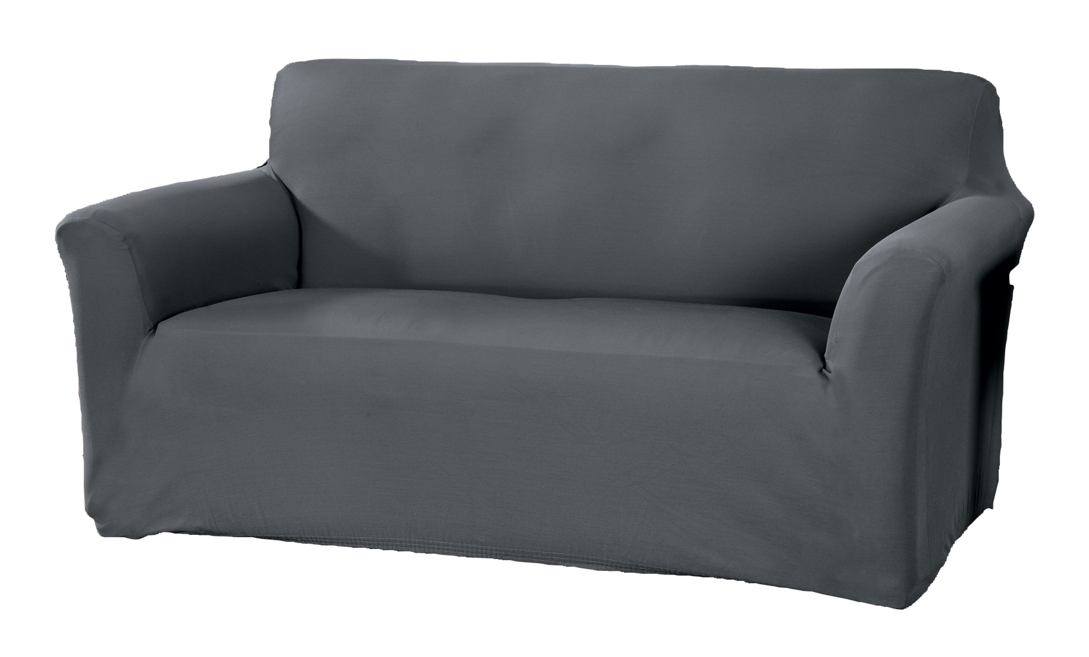 Corduroy Sofa Stretch Furniture Cover Corduroy sofa stretch furniture cover gives sofas an instant lift with the rich look and feel of corduroy. One-piece furniture protector adds soft, breathable comfort to your sofa while protecting against spills, stains and wear. Stretch design provides a smooth look that resists wrinkles and fits most sofas up to 90  W. Care is easy -- simply toss in the wash when it's time to freshen. Choose from 4 colors to complement any decor: burgundy, chocolate, ivory or gray. Sofa cover made with 97% polyester/3% spandex. Machine wash cold, gentle; tumble dry low. Use only non-chlorine bleach if needed. Do not iron. Imported.