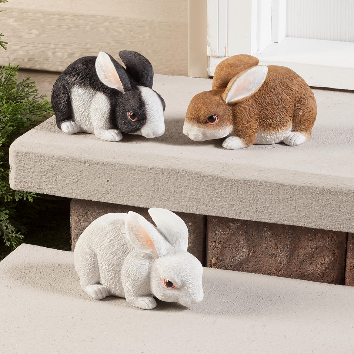 Bunny Figurines, Set of 3 – Resin Animal Statues for ...