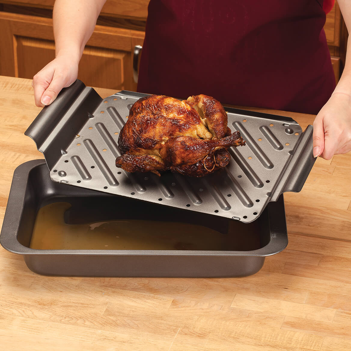how to use a roasting pan with rack